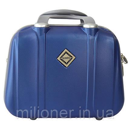 Сумка кейс саквояж Bonro Smile (небольшой) синий (blue 629), фото 2