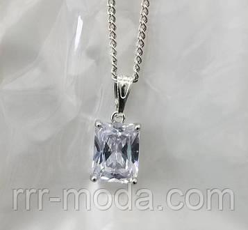 Квадратные кристаллы - кулоны из циркония на цепочке. Кулоны оптом. 357