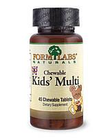 Детские жевательные поливитамины FormLabs Naturals (45 жевательных таблеток)