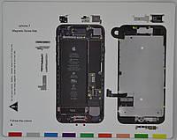 Магнитный Винт Коврик для разборки IPhone 7 (20 x 25 см)