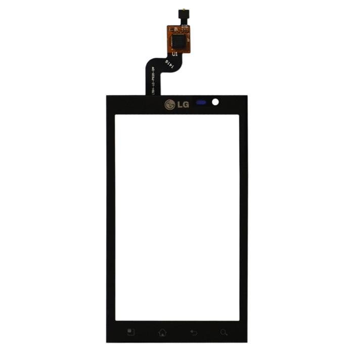 LG P920 Optimus 3D сенсорный экран, тачскрин черный