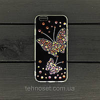 Чехол-накладка YOUNICOU Бабочка Swarowski для Samsung J330 черный