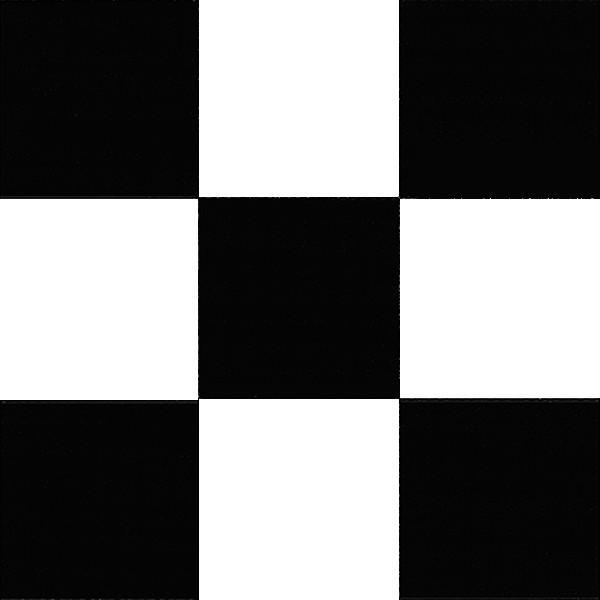 Черно белый линолеум шахматная доска 085-1