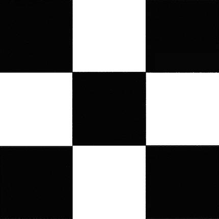 Черно белый линолеум шахматная доска 085-1, фото 2