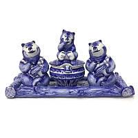 Солонка и перечница Гжель Три медведя
