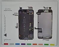 Магнитный коврик iPhone 7 Plus для раскладки винтов и запчастей при разборке