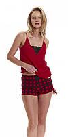Пижама DOBRANOCKA 9417, хлопок, Польша женские пижамы, пижама, L; M; S, L красный, красный; голубой; серый