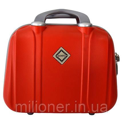 Сумка кейс саквояж Bonro Smile (небольшой) красный (red 601), фото 2