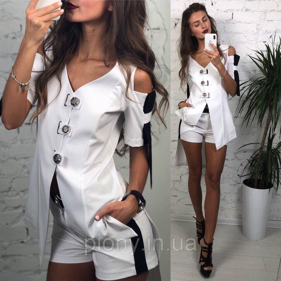 60b76b1aba3 Женский летний костюм Кардиган+Шорты - Интернет-магазин