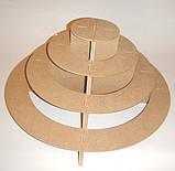 Підставка 4-х ярусне (з 2 частин) для капкейків, кексів, цукерок заготівля для декору, фото 2