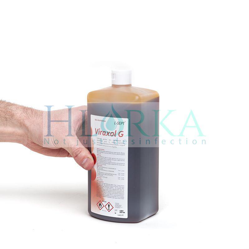 Вираксол Г - для маркировки и антисептической обработки кожи операционного и инъекционного полей, 1л Германия