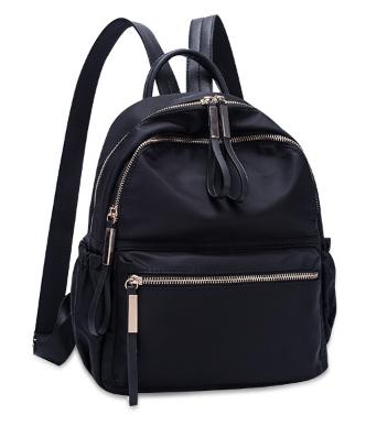 Рюкзак женский черный нейлон Sujimima