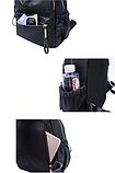 Рюкзак женский черный нейлон Sujimima, фото 2