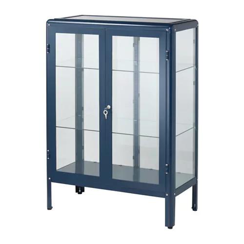 Шкаф-витрина IKEA FABRIKÖR 81x113 см синий 003.631.71