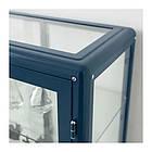 Шкаф-витрина IKEA FABRIKÖR 81x113 см синий 003.631.71, фото 5