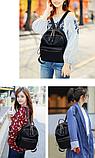 Рюкзак женский черный нейлон Sujimima, фото 4