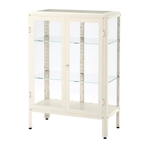 Шкаф-витрина IKEA FABRIKÖR 81x113 см белый 204.005.73