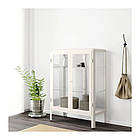 Шкаф-витрина IKEA FABRIKÖR 81x113 см белый 204.005.73, фото 4