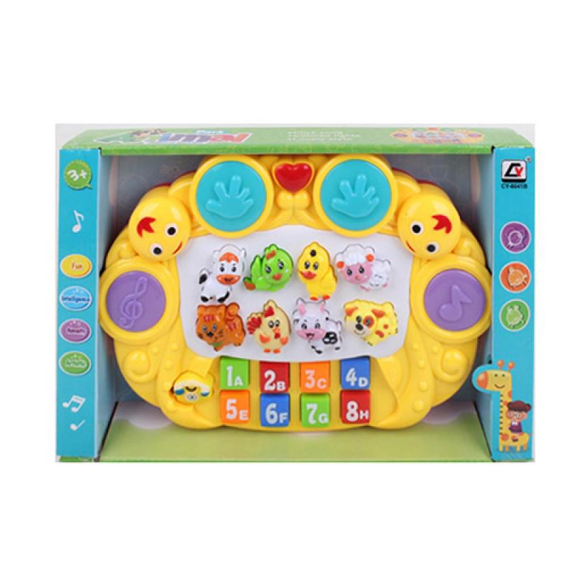 Піаніно CY-6041B навчальне (цифри, тварини), музичне (англ.), світло, на батарейках, в коробці, 29-19-5,5 см.