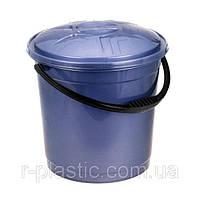 Ведро + крышка цветное 10 л фиолетовый