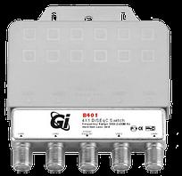 DiSEqC переключатель GI B-401 с корпусом 4x1