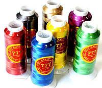 """Нитки вышивальные """"777"""" (2700m) шелковые, цветные"""