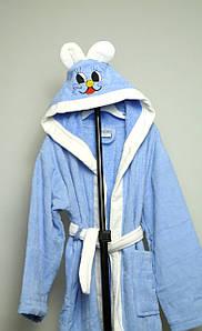 Детский халат велюровый с капюшоном, 9-10 лет