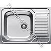 Прямоугольная кухонная мойка Fabiano 70х50 нержавеющая сталь, микродекор