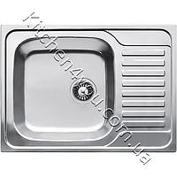 Прямоугольная кухонная мойка Fabiano 70х50 нержавеющая сталь, микродекор, фото 1