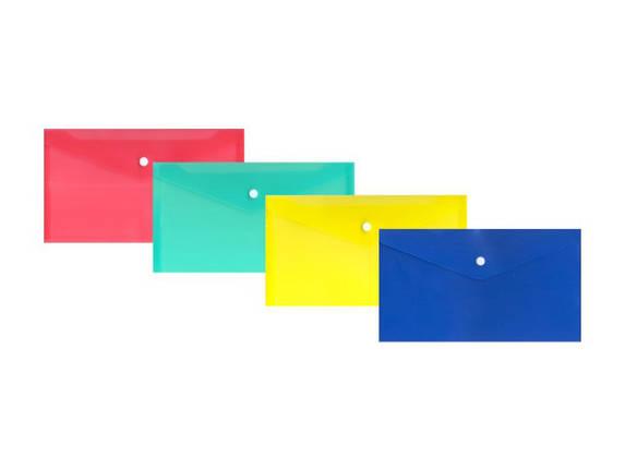Конверт на кнопці пластиковий формат DL, фото 2