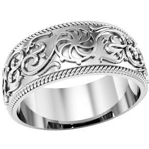 Кольцо обручальное Колесо фортуны 750180