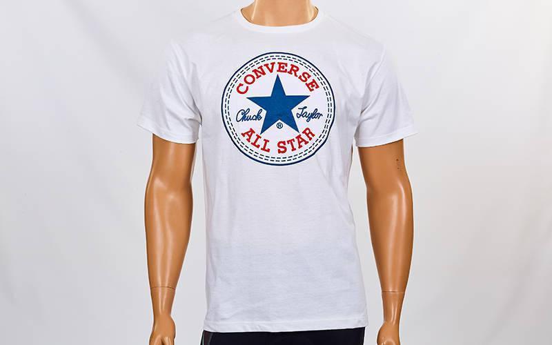 Футболка спортивная Converse размер M (46-48) белая