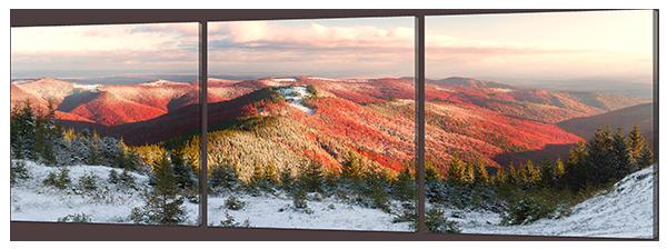Модульная картина  Утро в горах