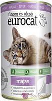 Полнофункциональный корм для взрослых кошек с печенью Eurocat 415 гр