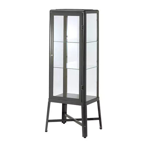 Витрина IKEA FABRIKÖR 57x150 см темно-серая 002.422.78