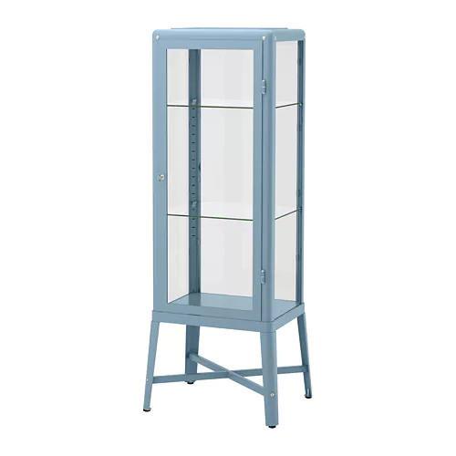 Витрина IKEA FABRIKÖR 57x150 см голубая 004.090.32
