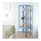 Витрина IKEA FABRIKÖR 57x150 см голубая 004.090.32, фото 2