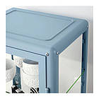 Витрина IKEA FABRIKÖR 57x150 см голубая 004.090.32, фото 5