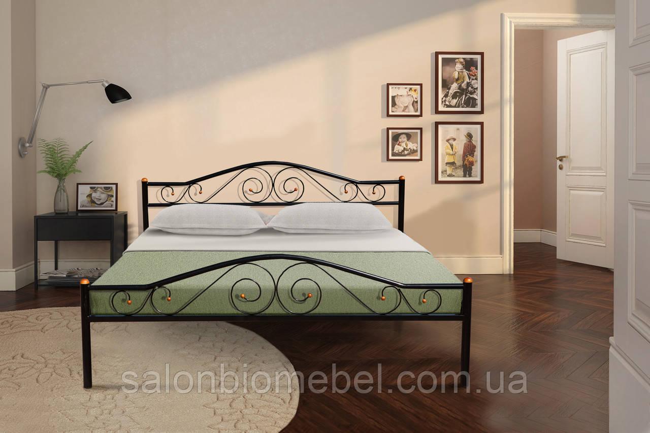 Кровать металлическая Респект 1,6 черная