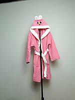 Детский халат велюровый с капюшоном, 7-8 лет
