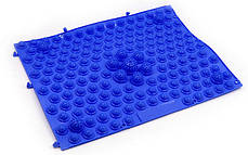 Килимок-пазл ортопедичний масажний гумовий (1шт) ZD-4601 (гума, р-р 38,5 см x 28см, кольори в асортименті), фото 3