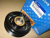 Шкив компрессора кондиционера Hyundai Santa Fe 06-/Sonata 04-/Kia Magentis/Opirus 05- (производство Mobis) (арт. 976433F400), AFHZX