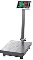 Электронные торговые весы (до 100 кг) с платформой и счетчиком цены на стойке размер платформы 30х40