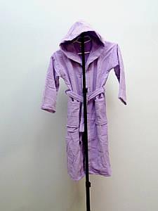 Подростковый халат велюровый с капюшоном, 13-14 лет