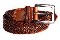 Мужской плетеный ремень для классических брюк