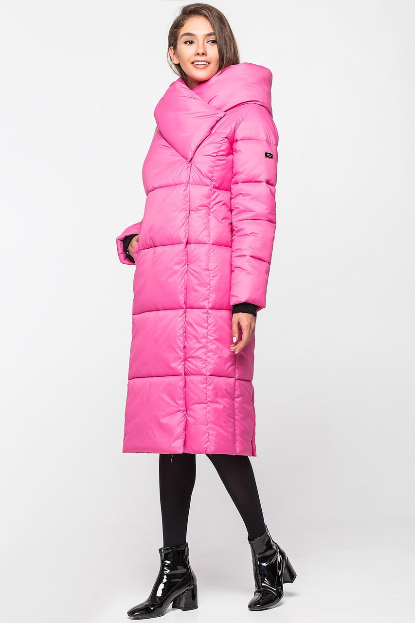 Зимняя женская курточка KTL-306 из новой коллекции 2018-2019 - насыщенно-розовая (#505)