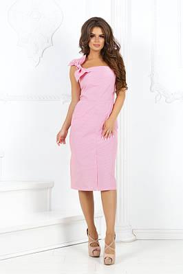 платье коттоновое с принтом полоски с бантом на лямке(съёмный)