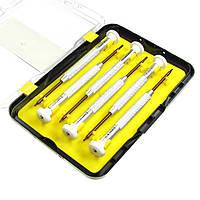 Набор отвёрток LUKEY L3070 (Т3,Т4,Т5,Т6,крест,звезда три луча) с алюминиевыми ручками