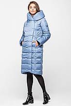 Модная теплая зимняя женская курточка KTL-223 из новой коллекции 2018-2019 - голубая (#592)
