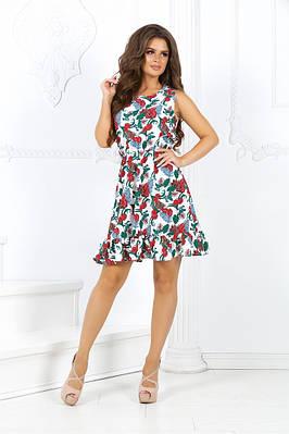 платье с принтом листьев